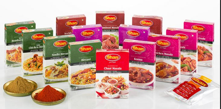 Shan Masala spices wholesale product list - All below
