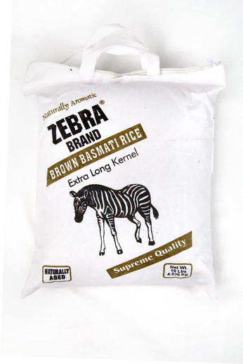 Brown Basmati Rice Zebra Brand